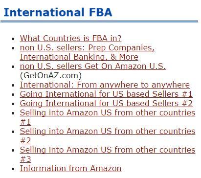 International FBA on PAC